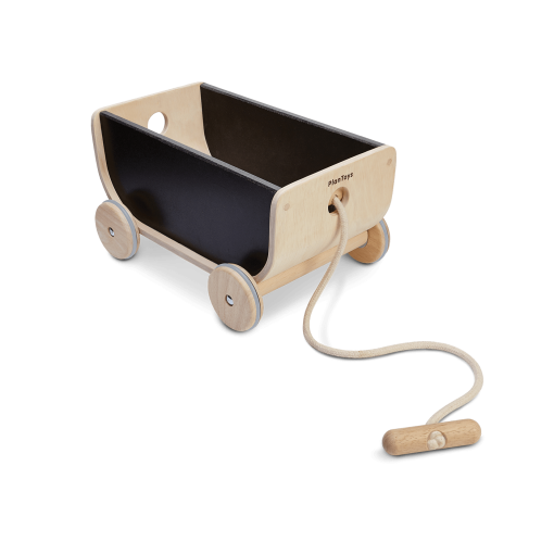 8619_PlanToys_WAGON_BLACK_PlanHome™_Gross_Motor_Coordination_Social_Imagination_Emotion_Fine_Motor_3yrs_Wooden_toys_Education_toys_Safety_Toy